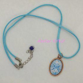Imprimerie Fleur Bleu Turquoise