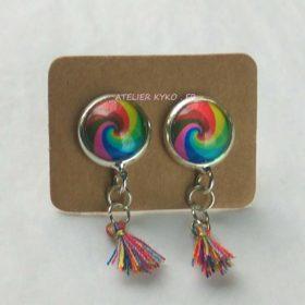 Pompon Multicolore Spirale