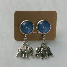 Éléphant Bleu Pois