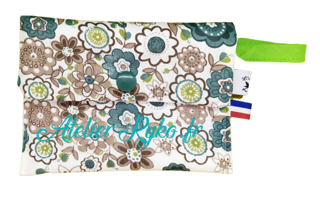 Fleurs Marron vert