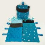 Etoiles Bleu Turquoise Foncé