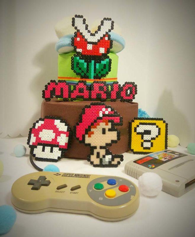 Gâteau de couches / Thème Nintendo