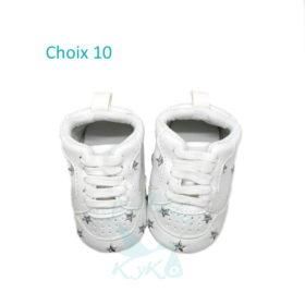 Choix 10 Basket Blanc Etoiles