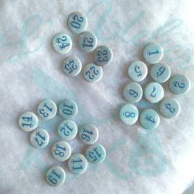 Badges Bleu Ciel Cerfs