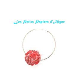 Boucles d'Oreilles Boule Japonaise Rouge